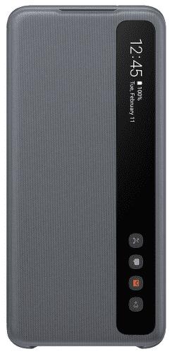 Samsung Clear View Cover pouzdro pro Samsung Galaxy S20, šedá