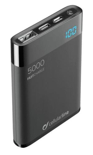 CellularLine FreePower Manta powerbanka 5000 mAh, černá