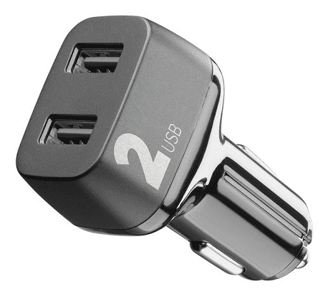 CellularLine Car Multipower 2 autonabíječka 2xUSB 24W, černá