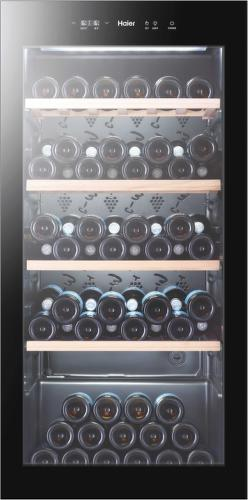 HAIER WS105GA, čierna vinotéka