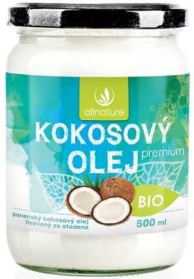 Allnature panenský kokosový olej BIO 500ml