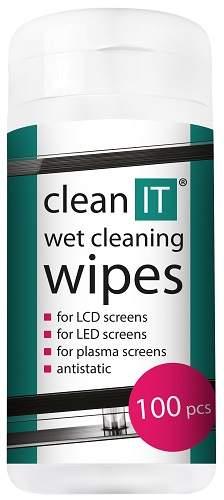Clean IT CL-140 vlhčené ubrousky na LCD obrazovky