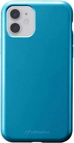 CellularLine Sensation Metallic silikonové pouzdro pro Apple iPhone 11, modrá