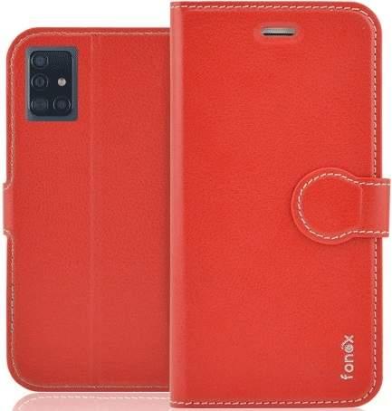 Fonex Identity flipové pouzdro pro Samsung Galaxy A71, červená