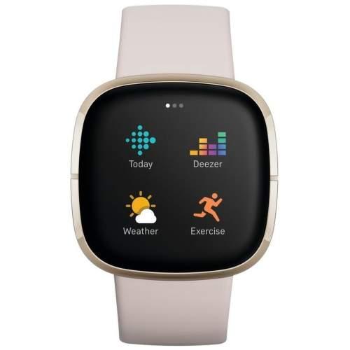 Fitbit Sense smart hodinky biela