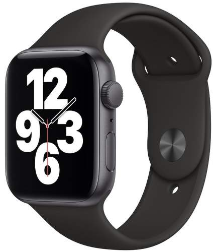 Apple Watch SE 44 mm vesmírné šedý hliník / černý sportovní řemínek
