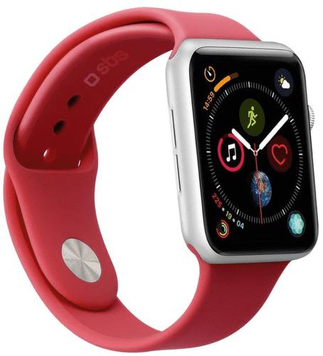 Sbs remienok pre Apple Watch 44 mm S/M červená