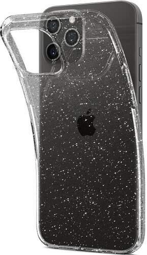 Spingen Liquid Crystal Glitter pouzdro pro Apple iPhone 12/12 Pro transparentní