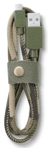CellularLine LongLife Kabel s konektorem MicroUSB (camouflage)