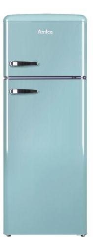 AMICA VD 1442 AL, modrá kombinovaná chladnička