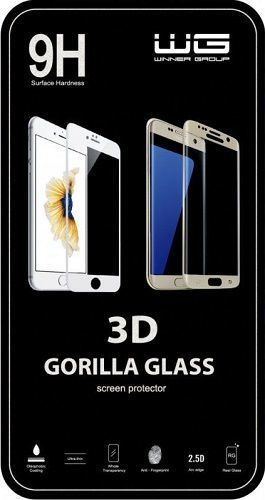 Winner ochranné tvrzené sklo 3D iPhone 8 Plus, černé
