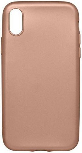 Mobilnet gumové pouzdro pro Apple iPhone X, zlatá