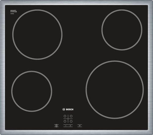 Bosch PKE645D17E, čierna sklokeramická doska