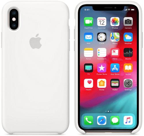 Apple silikonový kryt pro iPhone XS, bílý