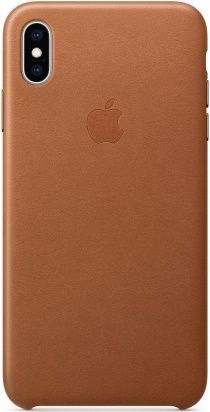 Apple kožené puzdro pre Apple iPhone XS Max, sedlově hnedá