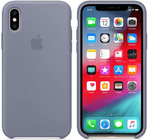 Apple silikonový kryt pro iPhone XS Max, levandulově šedý