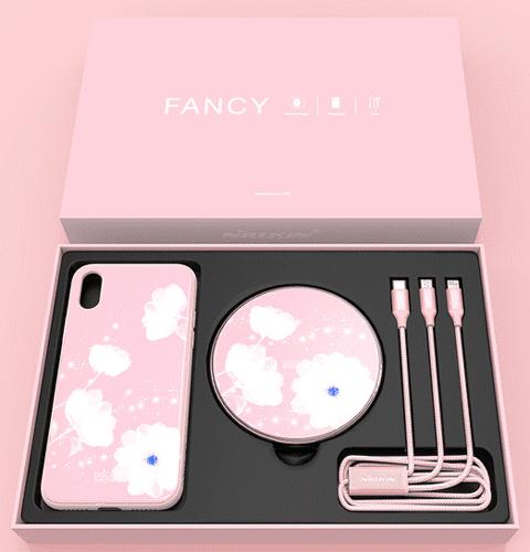Nillkin Fancy set pro iPhone X, růžová