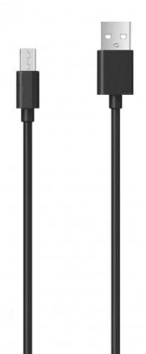 Aligator microUSB kabel 2A 1m, černá