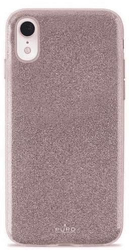 Puro Shine pouzdro pro Apple iPhone Xr, růžově zlatá
