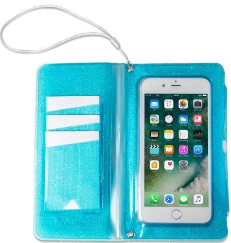"""Celly Splash Wallet voděodolné pouzdro do 6,2"""", modrá"""