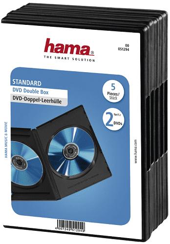 Hama 51294 obal na 2 DVD disky, 5 ks