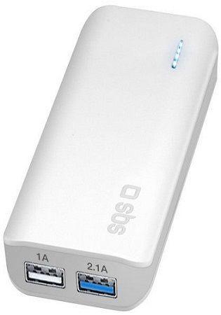 SBS powerbanka 5200 mAh, bílá
