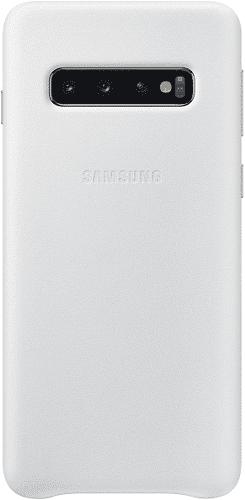 Samsung Leather Cover pro Samsung Galaxy S10, bílá
