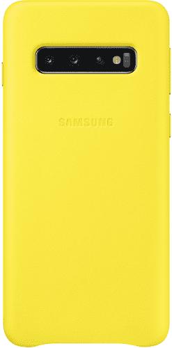 Samsung Leather Cover pro Samsung Galaxy S10, žlutá