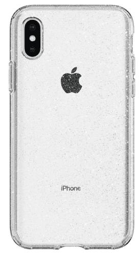 Spigen Liquid Crystal Glitter pouzdro pro Apple iPhone X a Xs, transparentní