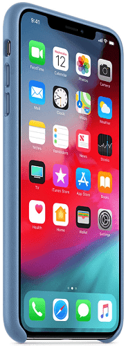 Apple kožený kryt pro iPhone Xs Max, modrý