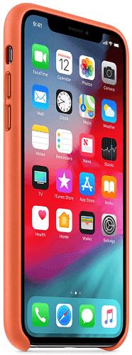 Apple kožený kryt pro iPhone Xs Max, oranžový