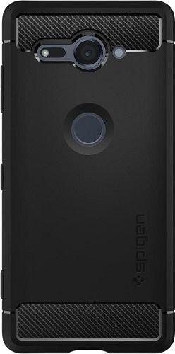 Spigen Rugged Armor pouzdro pro Sony XZ2 Compact, černá