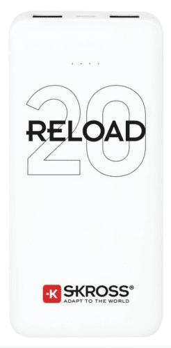 SKROSS Reload 20 powerbanka 20 000 mAh, bílá