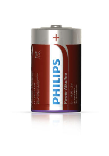 PHILIPS Power Alkaline D / 2