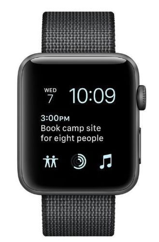 Apple Watch Series 2, Space Grey Aluminium Case with Black Woven Nylon Band
