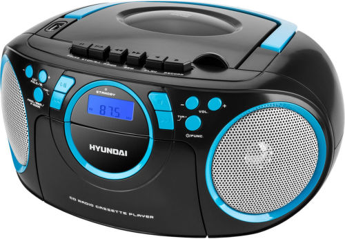 Hyundai TRC 788 AU3BBL - radiomagnetofon (černo-modré)