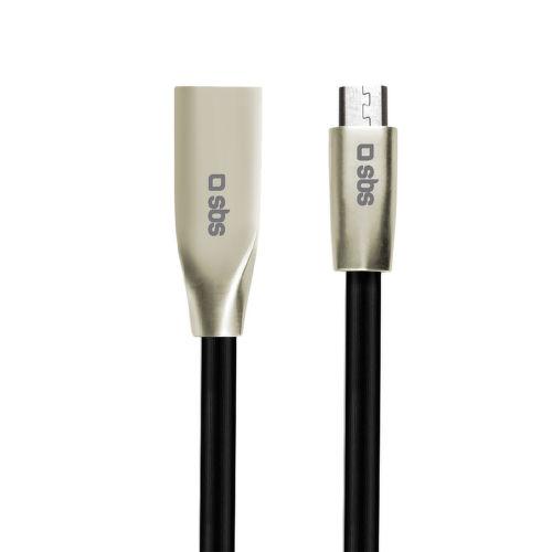 SBS MicroUSB 2.0 datový kabel 1,5m, černá