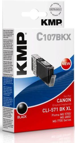 KMP CLI571BK XL, C107BKX recyk. náplň