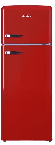 Amica VD 1442 AR červená kombinovaná chladnička