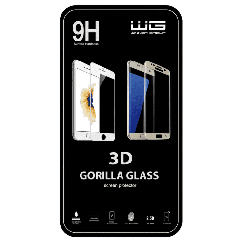 Winner ochranné tvrzené sklo 3D iPhone 7 Plus, bílé