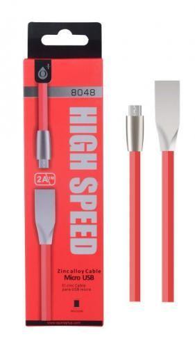 Plus N8048 MicroUSB datový kabel 1m, červená