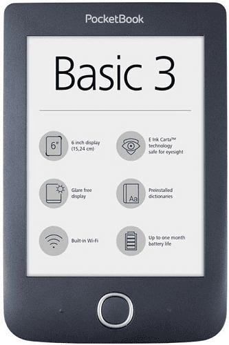 POCKETBOOK 614+ Basic 3 BLK