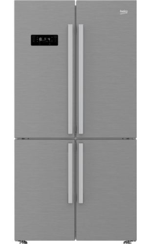 BEKO GN 1416231 JX, nerezová americká chladnička