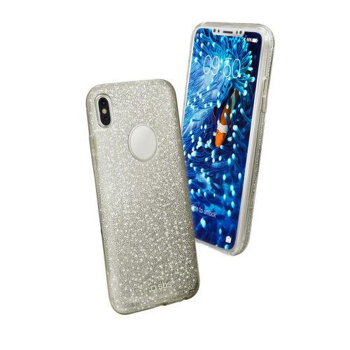 SBS Sparky pouzdro pro Apple iPhone X a Xs, stříbrná