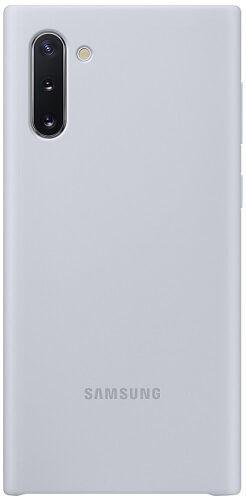 Samsung Silicone Cover pro Samsung Galaxy Note10, stříbrná