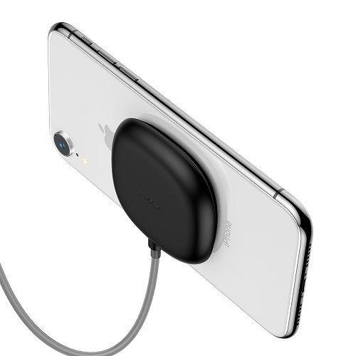Baseus Suction Cup Wireless Charger bezdrátová nabíječka 10W, černá