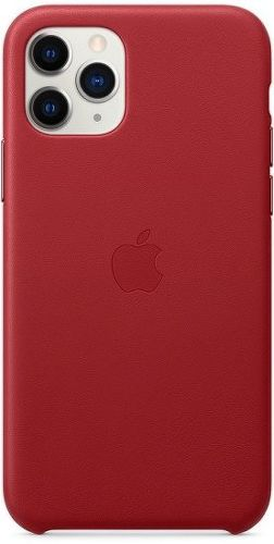 Apple kožený kryt pro iPhone 11 Pro, červená