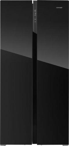 CONCEPT LA7383bc, černá americká chladnička