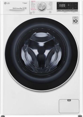 LG F4WN509S0, bílá smart parní pračka plněná zepředu