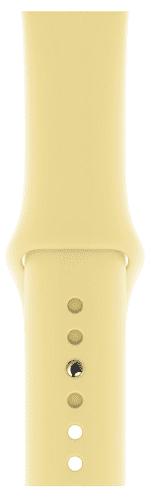 Apple Watch 44 mm sportovní řemínek S/M a M/L, krémově citrónový